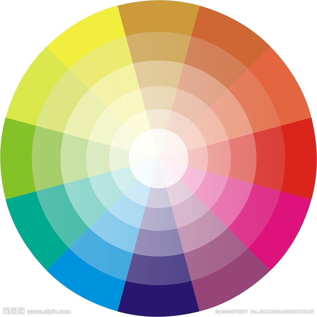 类似色相�y�_十二色相环什么是单色相,邻近色,类似色,中差色,对比色?