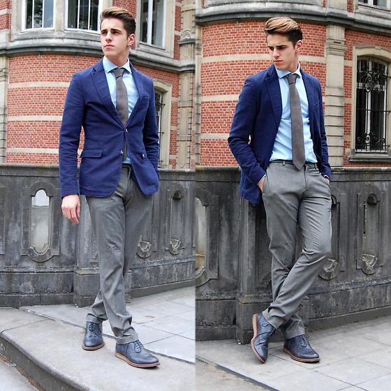 蓝色小西装怎么搭配_蓝色西装怎么搭配图片_百度知道