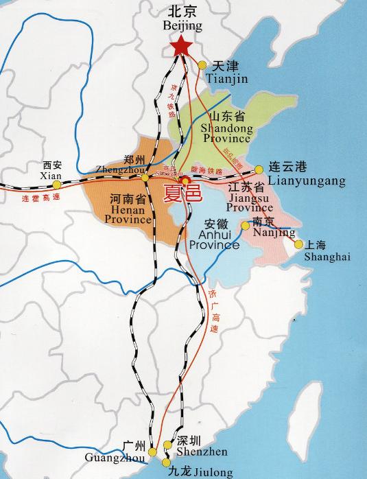 夏邑地图高清版