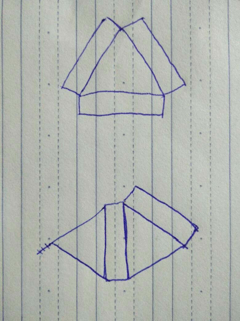 三角形盒子展开图_跪求这种三角形抽屉式包装盒的展开图_百度知道