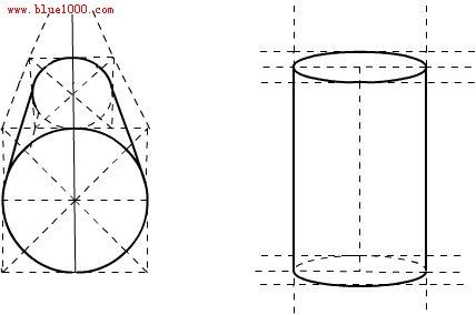 圆柱体的平面图_圆柱体的透视关系_百度知道