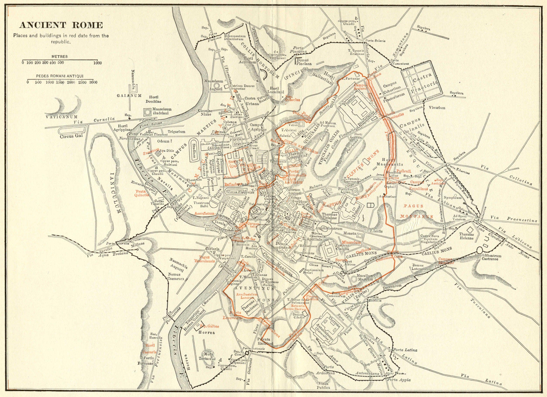 有沒有詳細一點的古羅馬城市規劃圖圖片