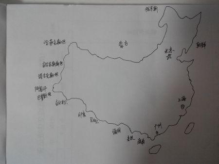 中国地图先画哪个方向与位置