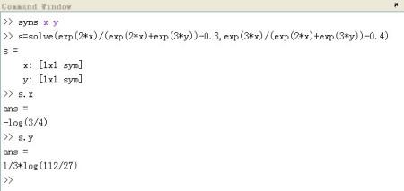 matlab解方程_用matlab解方程组,求详细代码