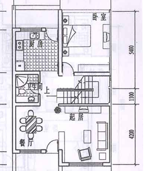 求積7*15的面積,自建三層半的房屋設計圖,長形的地基