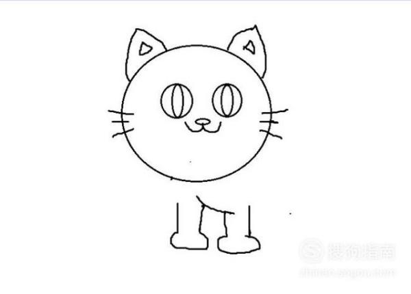 可爱的小猫怎么画简笔画