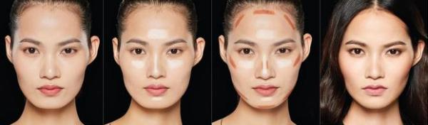 脸型长脸发际线怎么画?