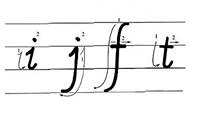 字母d的笔顺