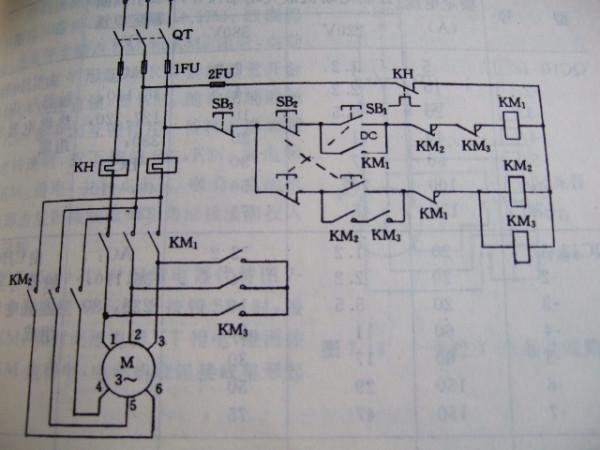求一张 三相电动机的 正反转星三角降压启动 的电路图 好的加分 谢谢各位咯图片