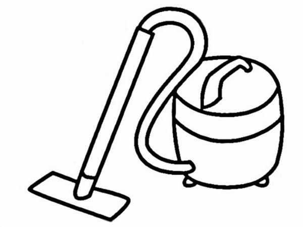 如何画电风扇 吸尘器简笔画