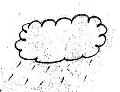 下雨了的怎么换,简笔画