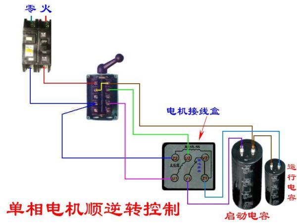 220v交流电机正反转_220v的电容电机如何改线让它正反转?_百度知道
