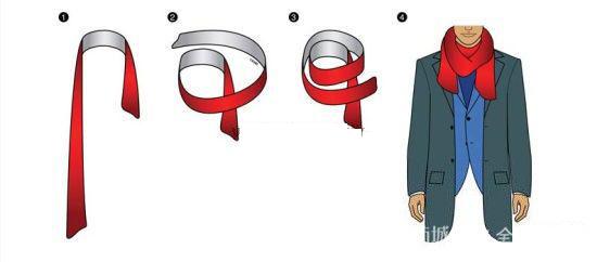 11种男士围巾的简易系法(图)