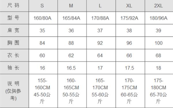 衣服96a是什么意思_男生衣服M L XL分别是什么码?_百度知道