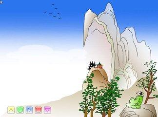 望庐山瀑布的简笔画有哪些