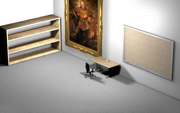 谁能告诉我3D壁纸怎么弄的,就是那个卡通黑的,有柜子抽屉和电脑蜘蛛网的那个,知道的说下,谢谢。_百度知道