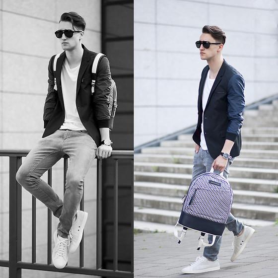 蓝色小西装怎么搭配_蓝色休闲小西装怎么搭配里面的衣服以及裤子和鞋子_百度知道