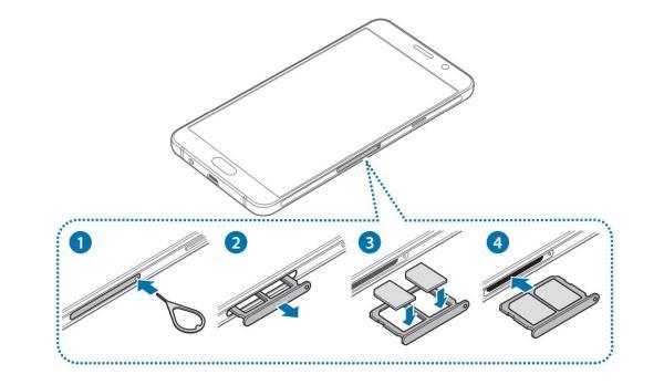 三星手机sm-a9100顶部卡槽,放什么卡?