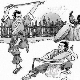 舞剑图猜成语_古风舞剑图片