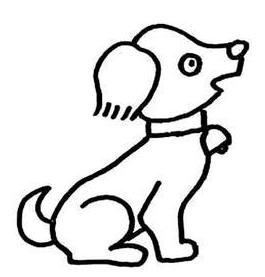 数字简笔画小狗怎么画