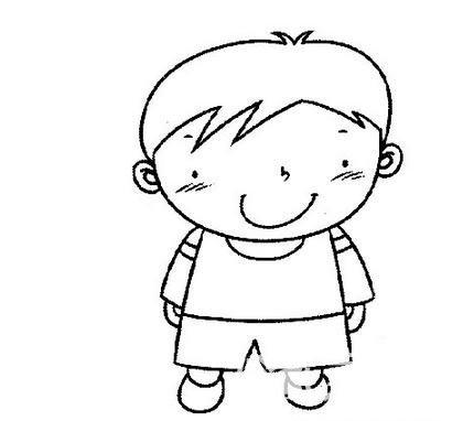 怎样画简单的小男孩简笔画