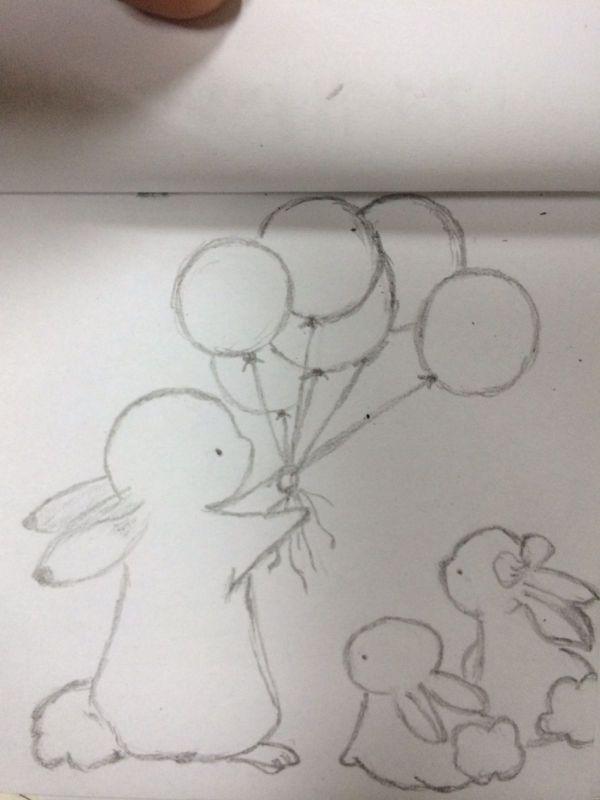 有没有兔子一家简笔画