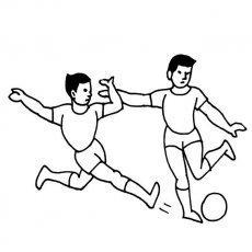 几个人踢足球的简笔画