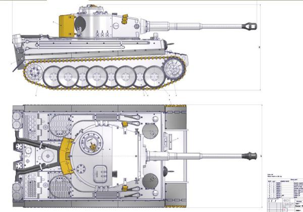 虎式坦克cad图纸_谁那里有虎式坦克的具体图纸吗,最好外部标有尺寸的_百度知道