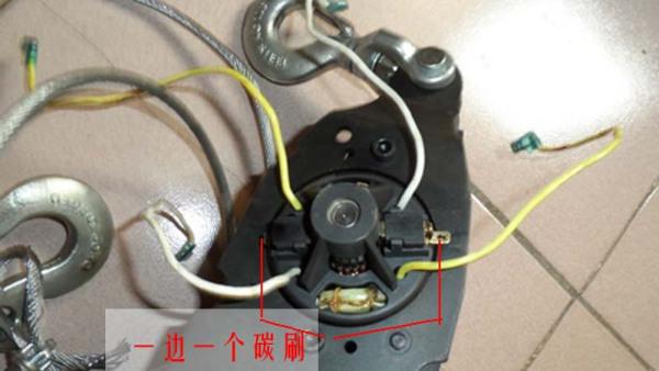 求有刷单相电机正反转接线图图片