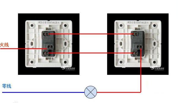 单开3控开关接线图_单开双控开关接线图_百度知道