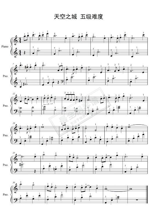 等哥有了钱简谱_求人质的钢琴简谱 类似于这种 双手的 数字 谢谢 急需 只有五点 ...