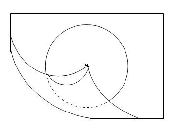怎样才能一笔画成圆锥的俯视图. 一笔哦
