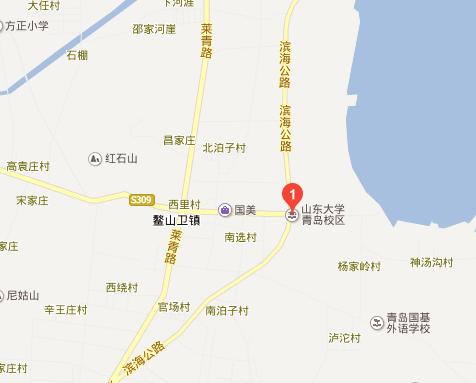 山东大学鳌山校区地图图片