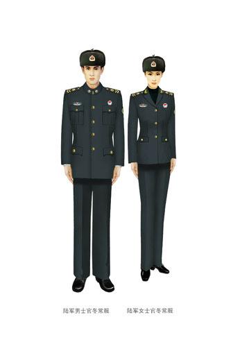 陆军学院学员冬常服是不是和士兵冬常服一样图片