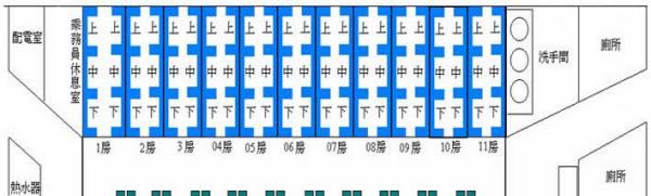 普快座位分布图_火车卧铺座位分布图