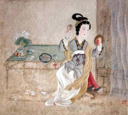 带有绮的描写女子的诗词 求一些描写古代女子出嫁的诗词 诗词歌曲 第4张