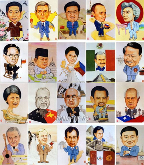 国外领导人卡通头像 图片图片