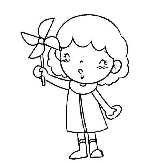 有漫画女孩简笔画吗