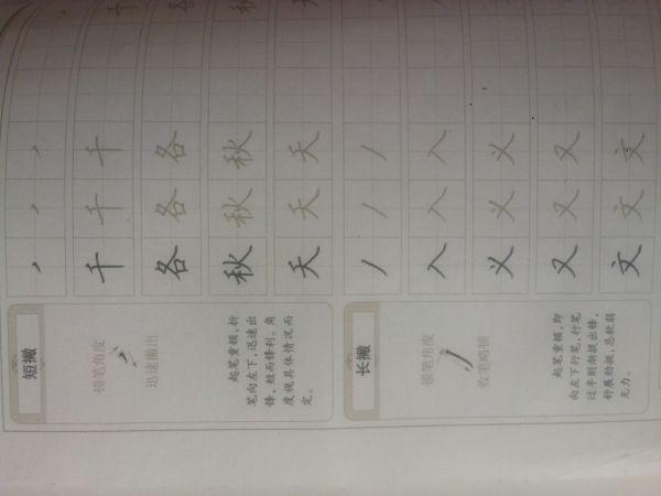 笔画撇点田字格怎么写