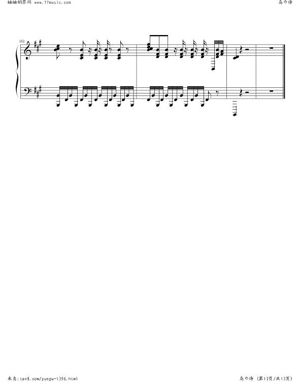 白鸟音简谱_17音拇指琴简谱